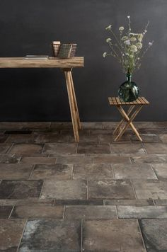 'Casa' is a brand new porcelain tile range to the collection, which realistically recreates the look of an old stone or terracotta floor | Casa Oscuro shown | Mandarin Stone