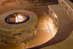 Stone Fire Pits backyard-patio-ideas