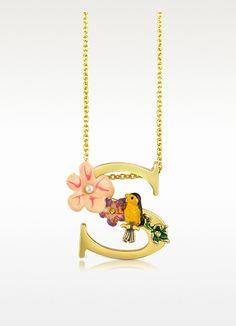 Les Nereides Alphabet Fleuri - S Charm Necklace