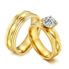 21 Best Wedding Rings Couple Gold Plated Ring By Menjewell Com