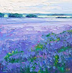 Halima Washington-Dixon   Contemporary Fine Art - Essex in Purple (Borage Fields)