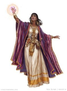 f Cleric Med Armor Robes Cloak Sword Casting Temple urban City Character illustrations for Pathfinder Adventure Card Game Mummy's Mask by Ekaterina Burmak Dnd Characters, Fantasy Characters, Female Characters, Fantasy Figures, Pathfinder Character, Pathfinder Rpg, Character Concept, Character Art, Character Design