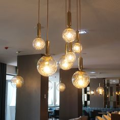 Plaina suspension lamp is the perfect lighting peace for a restaurant or lobby. You can use it too in your living or dining room. D 40 cm Furniture, Ceiling Lights, Suspension Lamp, Home Decor, Pendant Light, Light, Glass, Clear Glass, Polished Brass