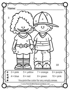 MORE NUMBERS - Know Your Numbers New Friends - Color Your Answers Five Printables for some Make Friends Math Fun in your classroom and answer keys too! #tpt #FernSmithsClassroomIdeas