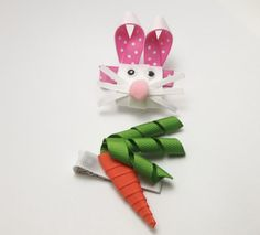 Bunny and Carrot Clip