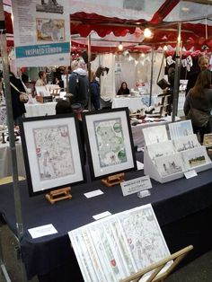 View of stall at the We Make London Market, Old Spitalfields, London E1 on 10th November 2012