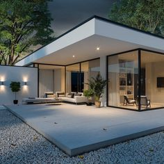 Exterior in Corona render on Behance Villa Design, Modern House Design, Floor Design, Rendered Houses, House Extension Design, Dream House Exterior, House Extensions, Facade House, House Facades
