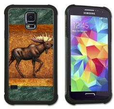 Moose Tapestry - Maximum Protection Case / Cover with Cushioned Corners for Samsung Galaxy S5. Extreme Protection from drops and scratches in a slim line package. Soft rubber inner layer with hard plastic outer layer. Cushioned protection for vulnerable corner hits. Beautiful, high resolution printed back cover. Over 500 designs. Compatible with Samsung Galaxy S5. FREE SHIPPING. Genuine Art Plates® products are sold and shipped by Amazon or Art Plates ONLY and have free shipping.
