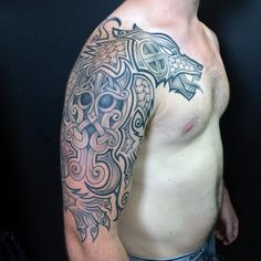 Mens Arms Nordic Dragon Tattoo