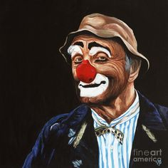 Senor Billy The Hobo Clown Painting by Patty Vicknair - Senor Billy The Hobo Clown Fine Art Prints and Posters for Sale