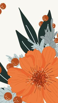 Iphone Background Wallpaper, Aesthetic Iphone Wallpaper, Flower Wallpaper, Aesthetic Wallpapers, Apple Watch Wallpaper, Cute Patterns Wallpaper, Pretty Wallpapers, Flower Art, Illustrations