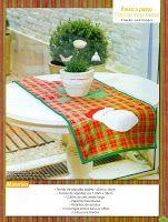 Moldes Para Artesanato em Tecido: trilho de mesa natal