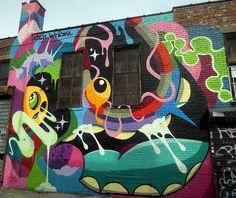 Patch Whisky street art at Bushwick Collective