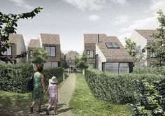 High-quality sustainable residential developments in Waddesdon, Buckinghamshire for the Rothschild Foundation by C.F. Møller Architects.