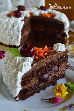 Apa szerint a legfinomabb csokitorta, amit valaha evett! Ugye akkor nem kell tovább bizonygatnom, hogy milyen is lett és miért érdemes elké. Healthy Dessert Recipes, Sweets Recipes, Sweet Desserts, Cookie Recipes, Torte Cake, Hungarian Recipes, Pastry Cake, Sweet And Salty, Relleno