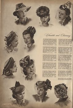 The Closet Historian: Cataloging Catalogs: Ward's Fall/Winter 1947-1948, Hats!