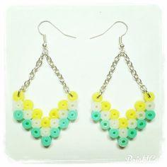 Earrings hama beads by  creation_jade_b                                                                                                                                                      More
