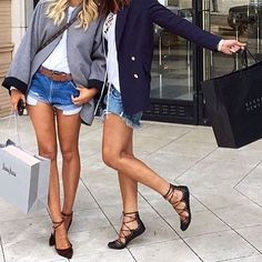 Stylish bia @best__outfits__   #Stylish #StylishGirls #Shopping #Bf #Bff #FlatShoes #Shoes #PrettyGirls #JeansShorts #ShortShorts #Out #Wearing #Blazer #Belt #Wearing #Wiwt #Outwear #TodaysOutfit #DailyStyle #StyleOfTheDay #LiveIt #CityWalk #CityStyle #Style #CityFashionBlogger