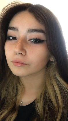 Edgy Makeup, Makeup Eye Looks, Grunge Makeup, Eye Makeup Art, Pretty Makeup, Skin Makeup, Makeup Tips, Makeup Looks Tutorial, Eyeliner Tutorial