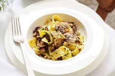 Pappardelle con funghi (mushroom pappardelle)
