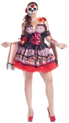 Day Of The Dead Plus Size Costume - Day of the Dead Costumes