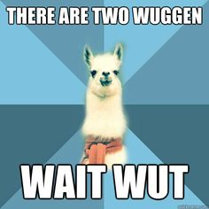 there are two wuggen wait wut - Linguist Llama