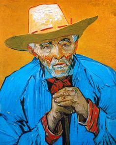 Vincent Van Gogh - Vieux Paysan (Portrait de Patience Escalier), 1888, Arles. Huile sur toile. Dimensions: 96 x 56 cm. Collection Priveé.