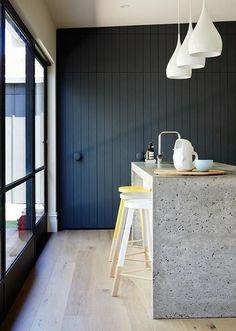 дневник дизайнера: Каковы возможные плюсы и минусы бетонной столешницы для кухни?