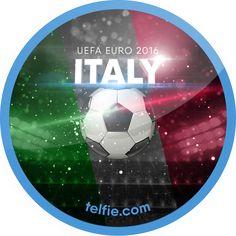 UEFA Euro 2016!  Italy UEFA Euro 2016 sticker unlocked via #Telfie