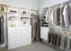 modern black and white l shaped closet - Google Search