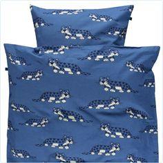 Smafolk Bettwäsche Leoparden blau ADULT -  www.lolakids.de