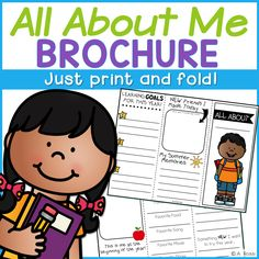 All About Me Back to School Brochure This All About Me brochure will help your students start the school year out with a bang! Your students can create new goals for the school year with this meaningful activity. They can reflect on summer activities too. Back To School Activities, Summer Activities, School Resources, Learning Resources, Teaching Tips, Beginning Of The School Year, First Day Of School, All About Me Project, School Brochure