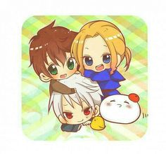 Baby bad touch trio featuring mochi!Italy :3