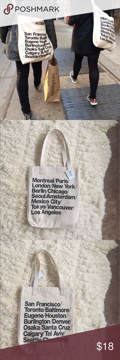 American Apparel Denim Tote Bag! This is brand new with tags! First photo is from Pinterest! Price is firm! American Apparel Bags Totes