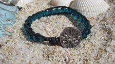 Boho Turquoise Crystal Wrapped Bracelet by BeadDazzlers on Etsy, $18.00