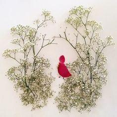 Beautiful Art, By Bridget Beth Collins. Made of leaves, petals and twigs. She is a Botanical artist, painter, writer, nature lover, light seeker. Based in Seattle. #beautiful