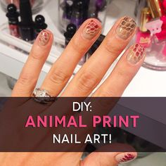 Get an animal print mani at home with supplies you probably already own!