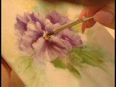 How to Paint Porcelain : How to Add Detail to Flowers in a Porcelain Painting 5