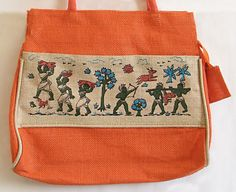Hand Painted Jute Bag from India
