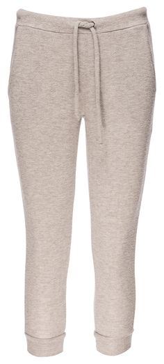 Chaser Love Knit Drawstring Waist Slim Slouchy Cropped Pant in Heather Grey / Manage Products / Catalog / Magento Admin