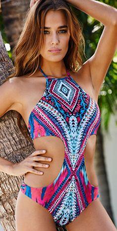 brazilian monokini Tribal swimsuit swimwear women one piece bodysuit swim  suit bathing 556d077c09