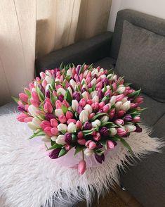 imagem no We Heart It Tulips Flowers, Fresh Flowers, Pretty Flowers, Planting Flowers, Pink Tulips, Floral Flowers, Beautiful Flower Arrangements, Floral Arrangements, Bloom Baby