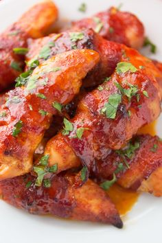 Bacon Wrapped Honey Sriracha Chicken Strips Recipe