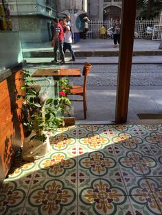 Love the colors of these cement tiles