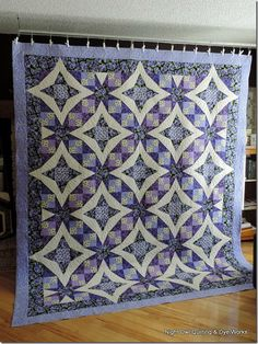 Lavender is So Lovely in This Quilt - Quilting Digest Block Of The Month, Vintage Quilts, Pansies, Tennessee Waltz, Blanket, Rugs, Ideas, Beautiful, Design