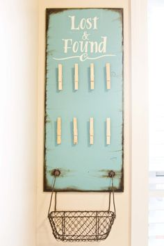 lost & found vintage sign - great for school classroom, church or even at home in your laundry room
