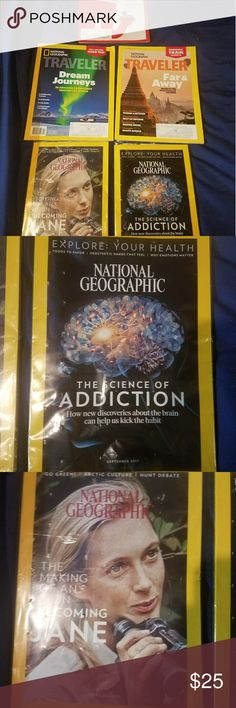 Lot of National Geographic Magazines + Time Lot of 5 New Recent Magazines National Geographic October 2017 - still in original packaging National Geographic September 2017 - still in original packaging National Geographic Traveler August/September 2017 - never opened National Geographic Traveler October/November 2017 - never opened Time October 2, 2017 - never opened National Geographic Other