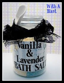 Vanilla & Lavender Bath Salts: DIY Christmas present