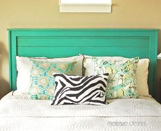 someday i will have a headboard. and i love turquoise!