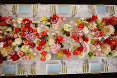 Color Inspiration: Chartreuse, Red-Orange, Blush and White. And Gold, of course!